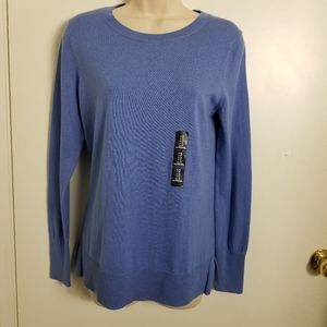 Gap NWT Sz. S Blue Cotton Sweater Side Slits
